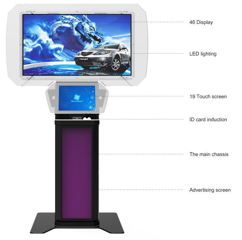 带2个屏幕的商用AD台式电脑自助终端